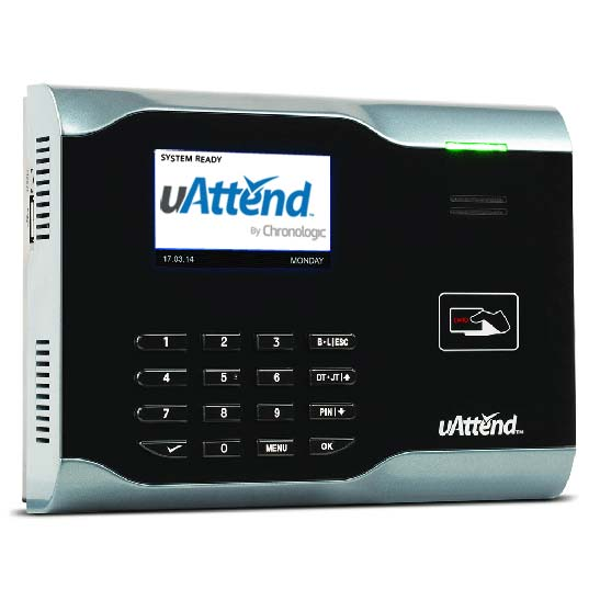 uattend RFID attendance system swipe card/fob clocking machine