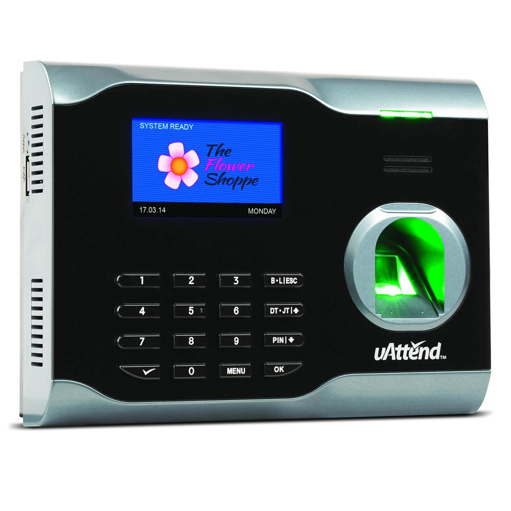 uAttend biometric fingerprint clocking in terminal
