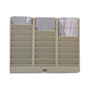 uAttend swipe card rack