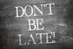 blackboard don't be late