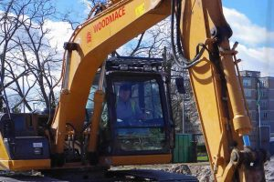 Woodmace digger on-site