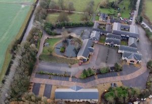 Blisworth Hill Business Park from the air