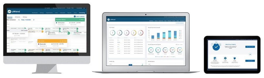 uAttend key features dashboard